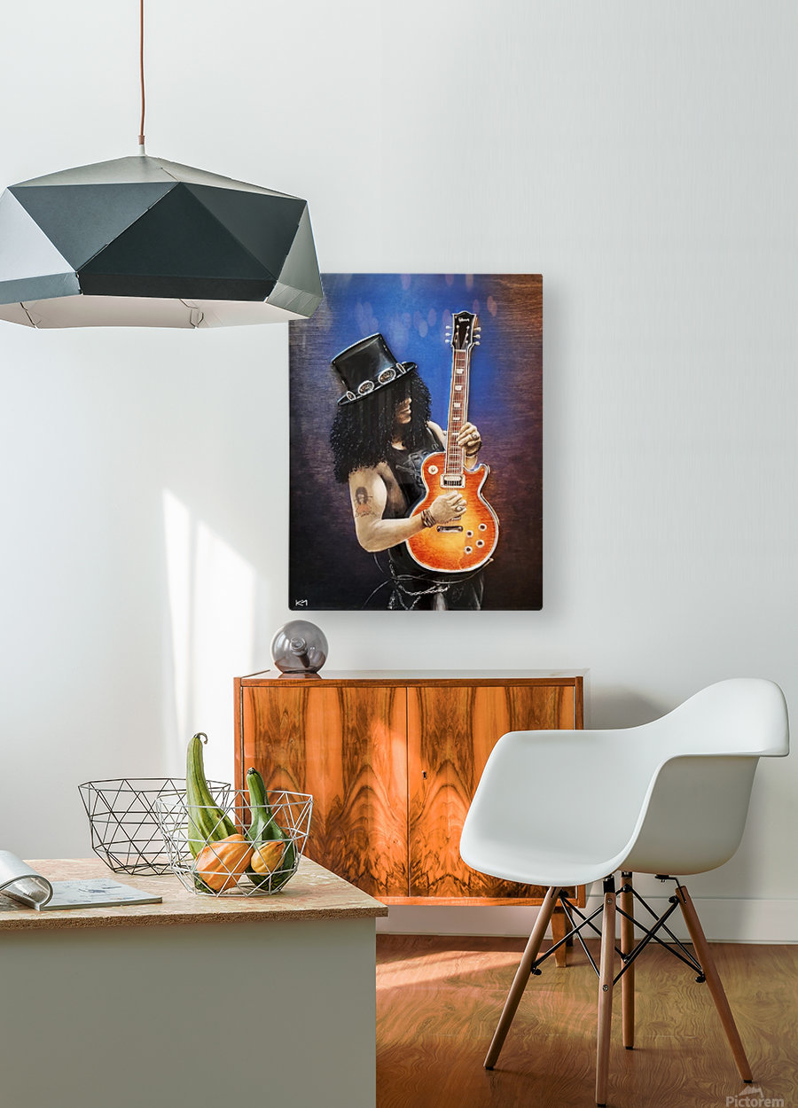 Bent Metal  HD Metal print with Floating Frame on Back