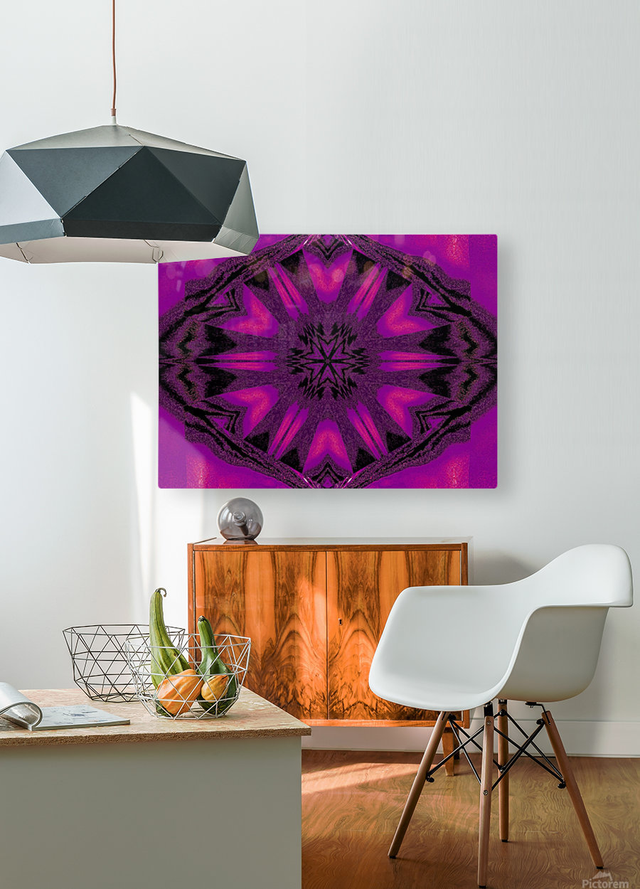 Purple Desert Song 22  HD Metal print with Floating Frame on Back