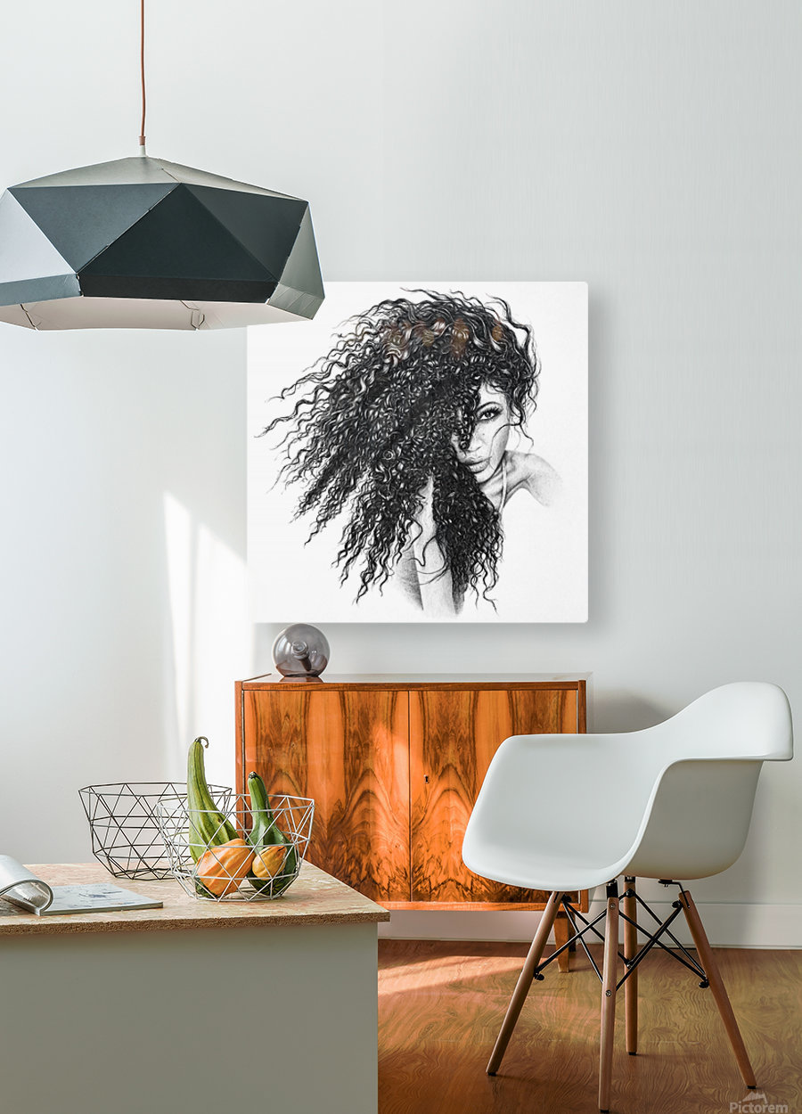 The Muse  HD Metal print with Floating Frame on Back