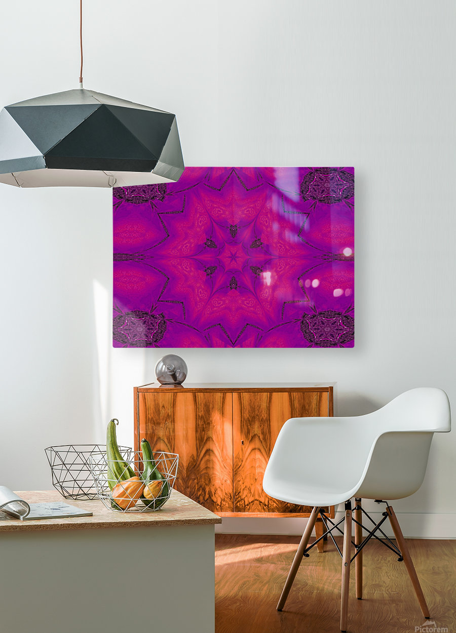 Purple Desert Song 29  HD Metal print with Floating Frame on Back