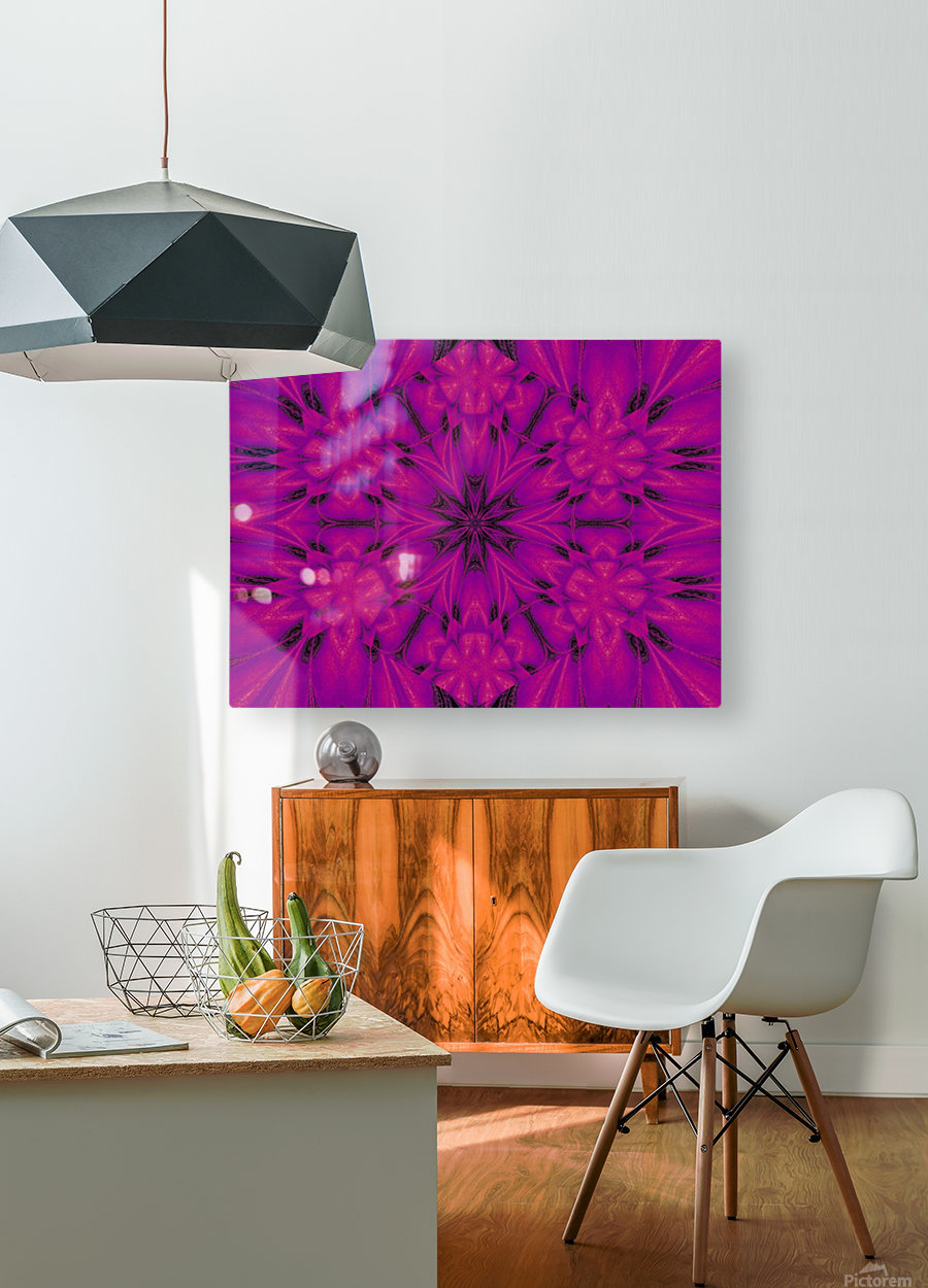 Purple Desert Song 32  HD Metal print with Floating Frame on Back