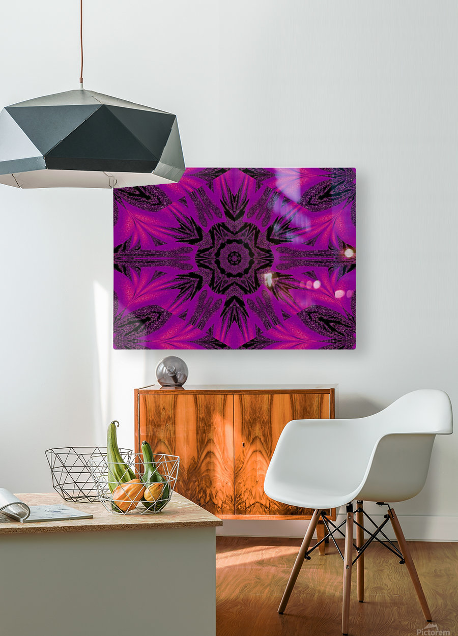 Purple Desert Song 34  HD Metal print with Floating Frame on Back