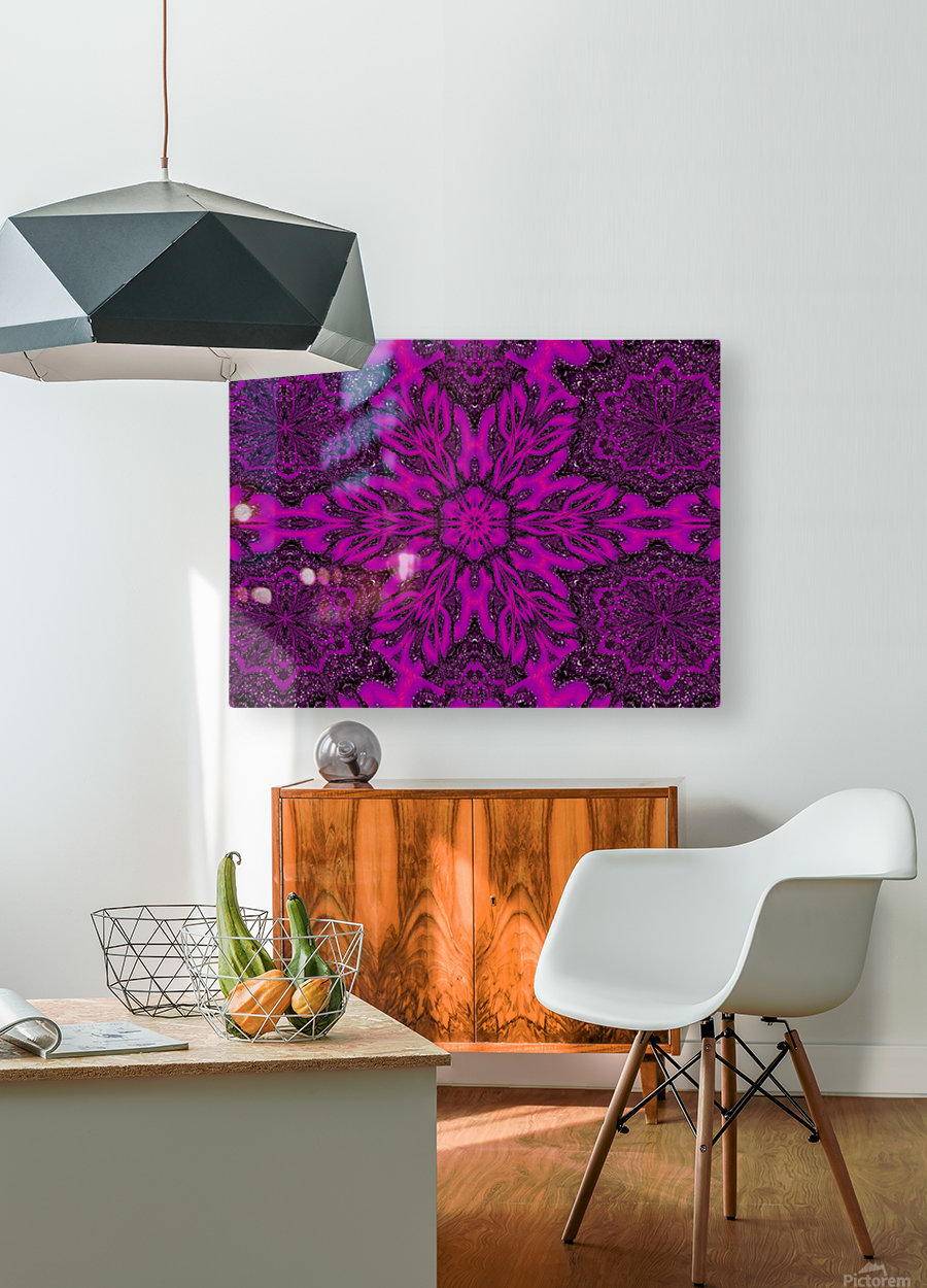 Purple Desert Song 39  HD Metal print with Floating Frame on Back