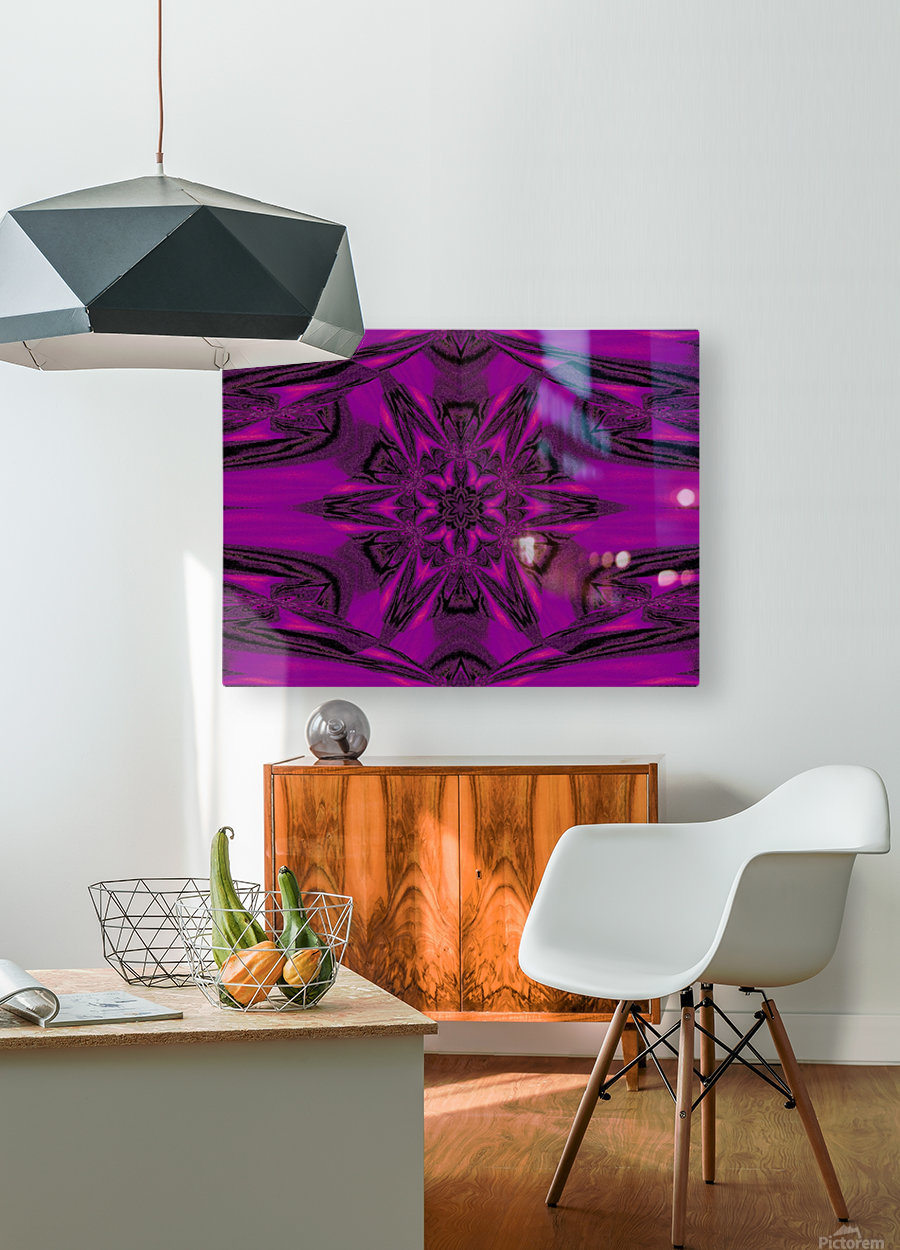Purple Desert Song 40  HD Metal print with Floating Frame on Back