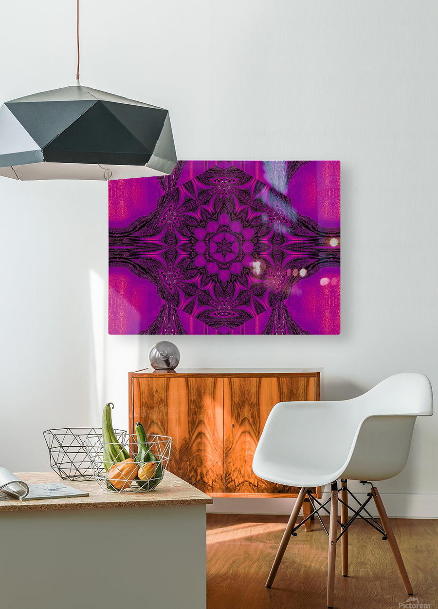 Purple Desert Song 43  HD Metal print with Floating Frame on Back