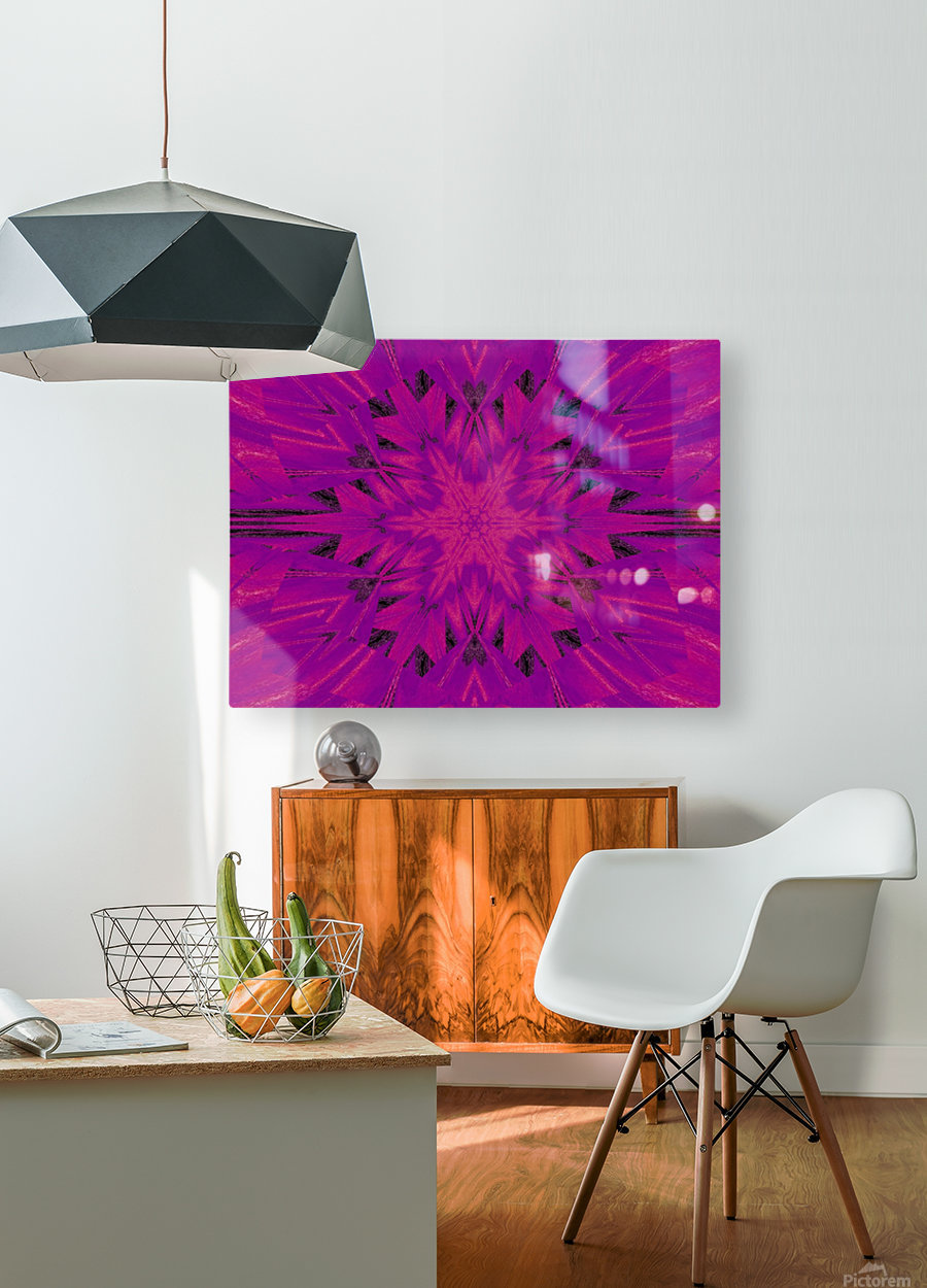 Purple Desert Song 45  HD Metal print with Floating Frame on Back