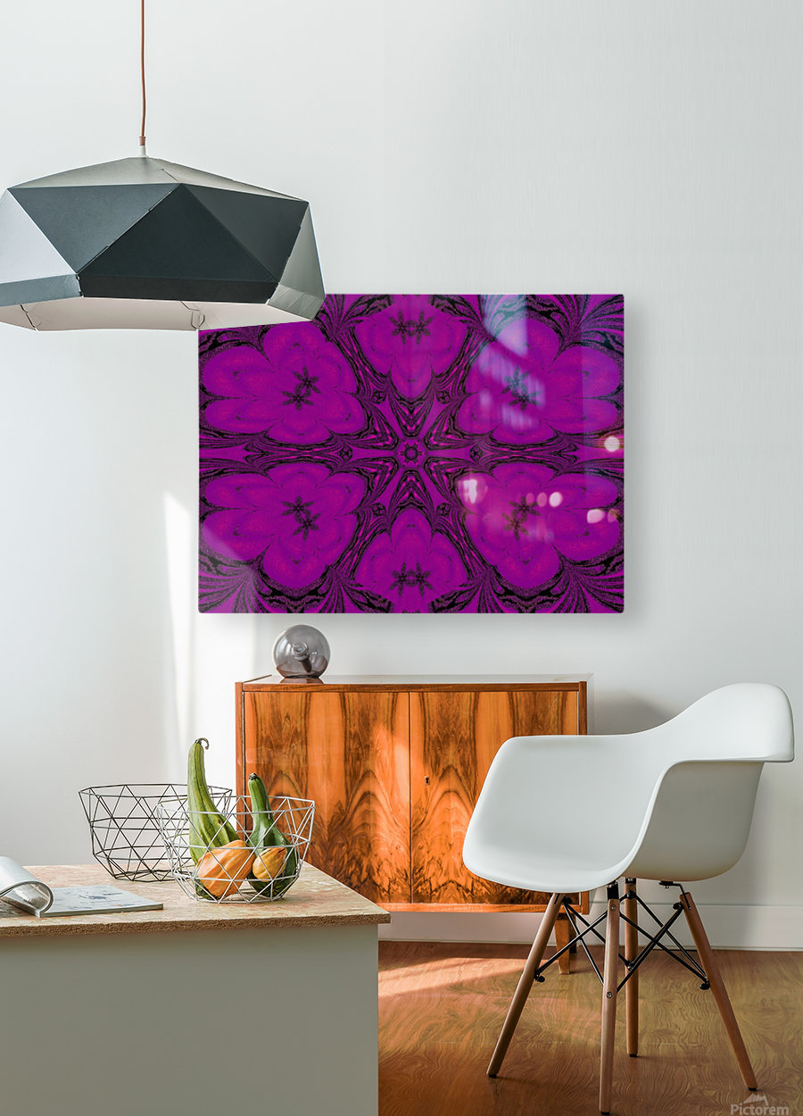 Purple Desert Song 47  HD Metal print with Floating Frame on Back