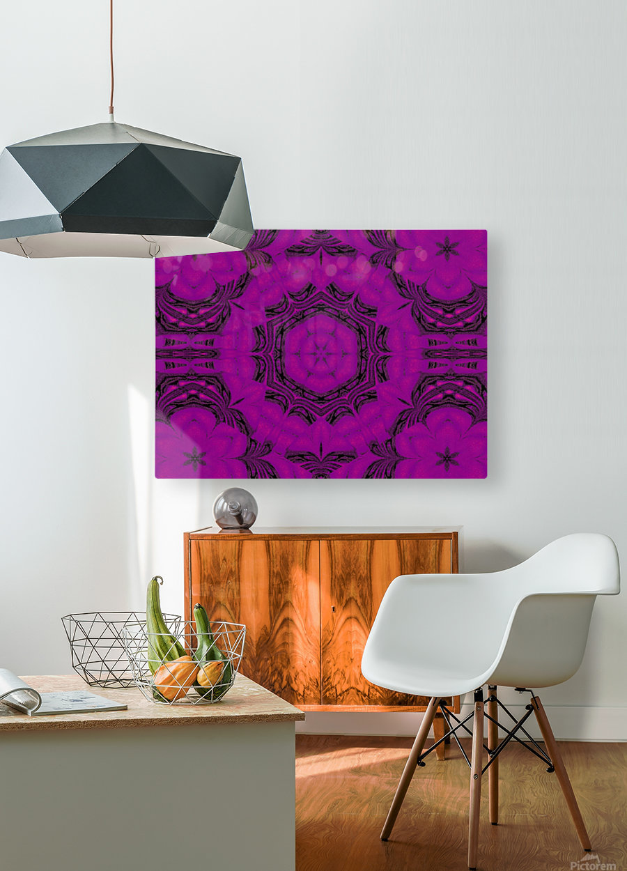 Purple Desert Song 48  HD Metal print with Floating Frame on Back