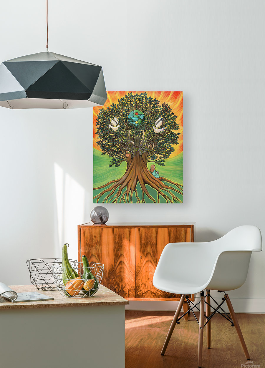 Rooted In The Tree Of Humanity  HD Metal print with Floating Frame on Back