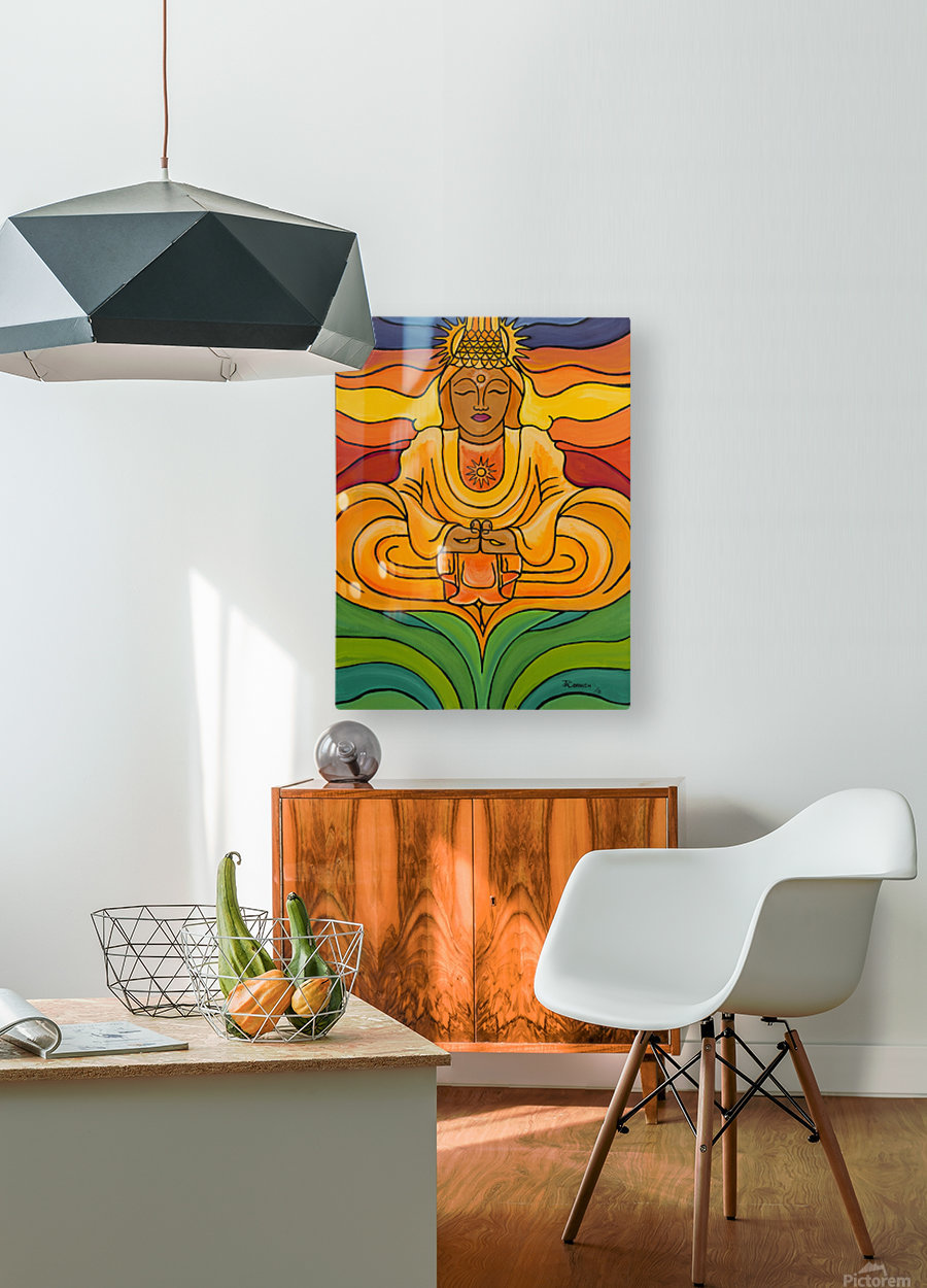 United Light  HD Metal print with Floating Frame on Back