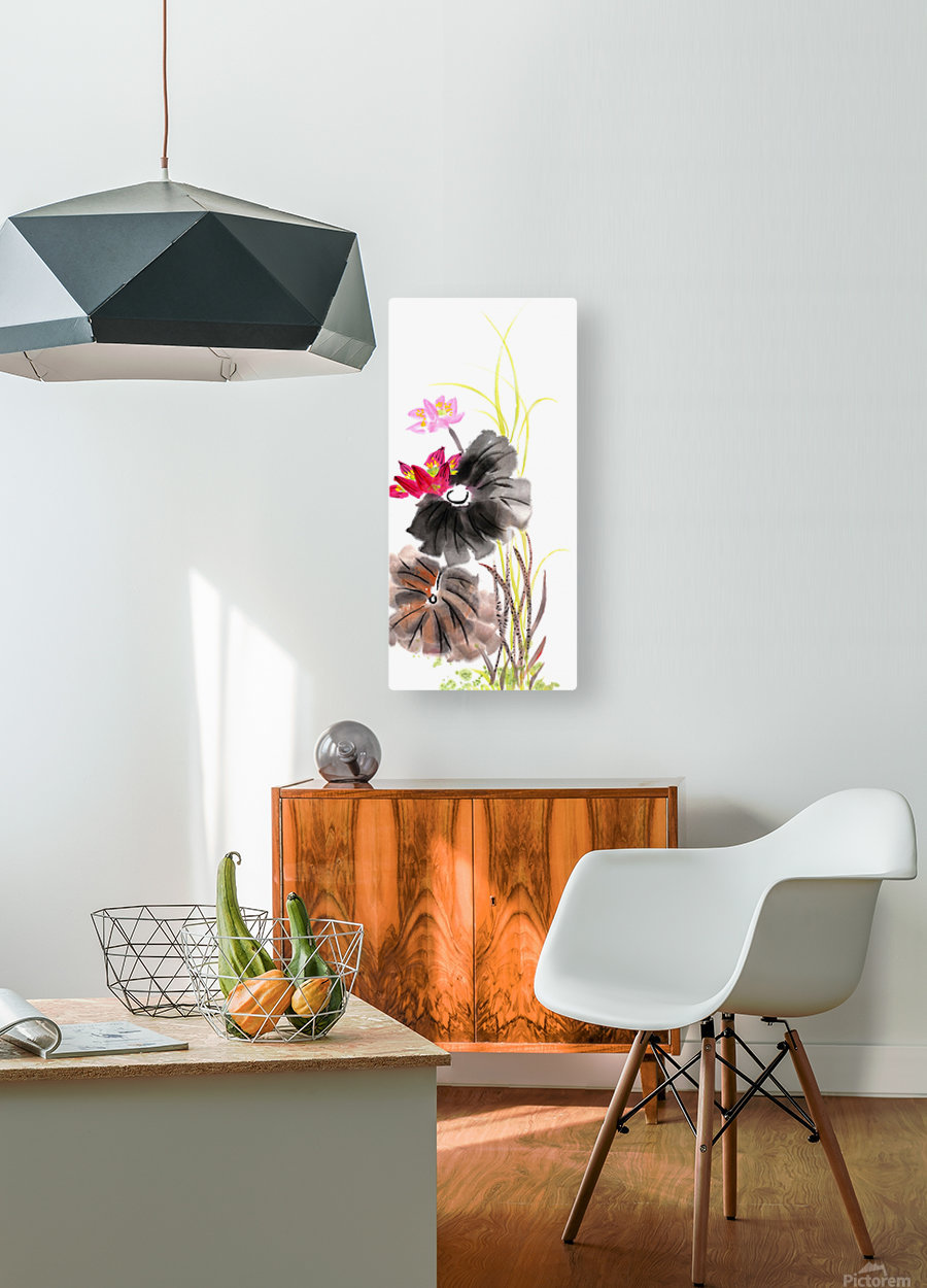 Lotus Flower  HD Metal print with Floating Frame on Back