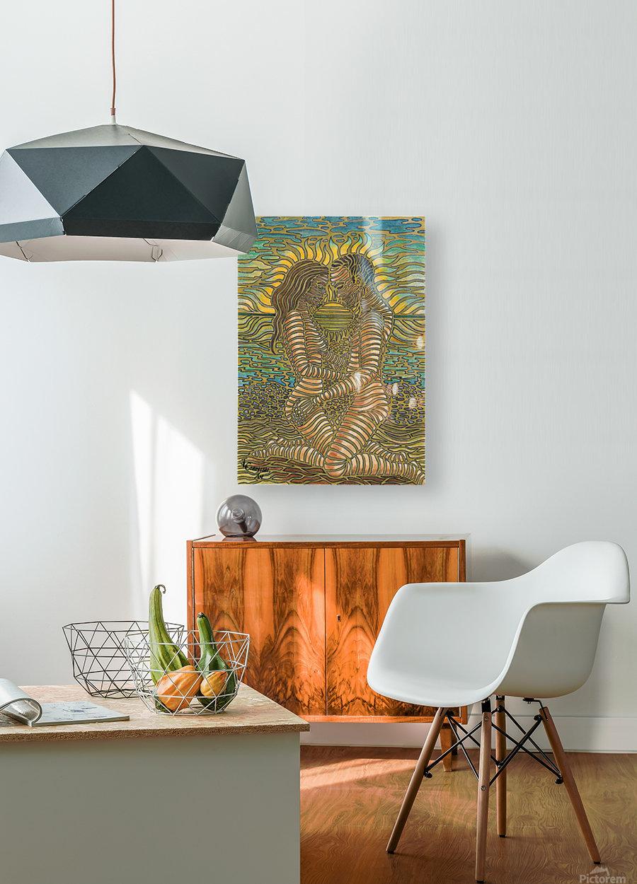 Nurture  HD Metal print with Floating Frame on Back