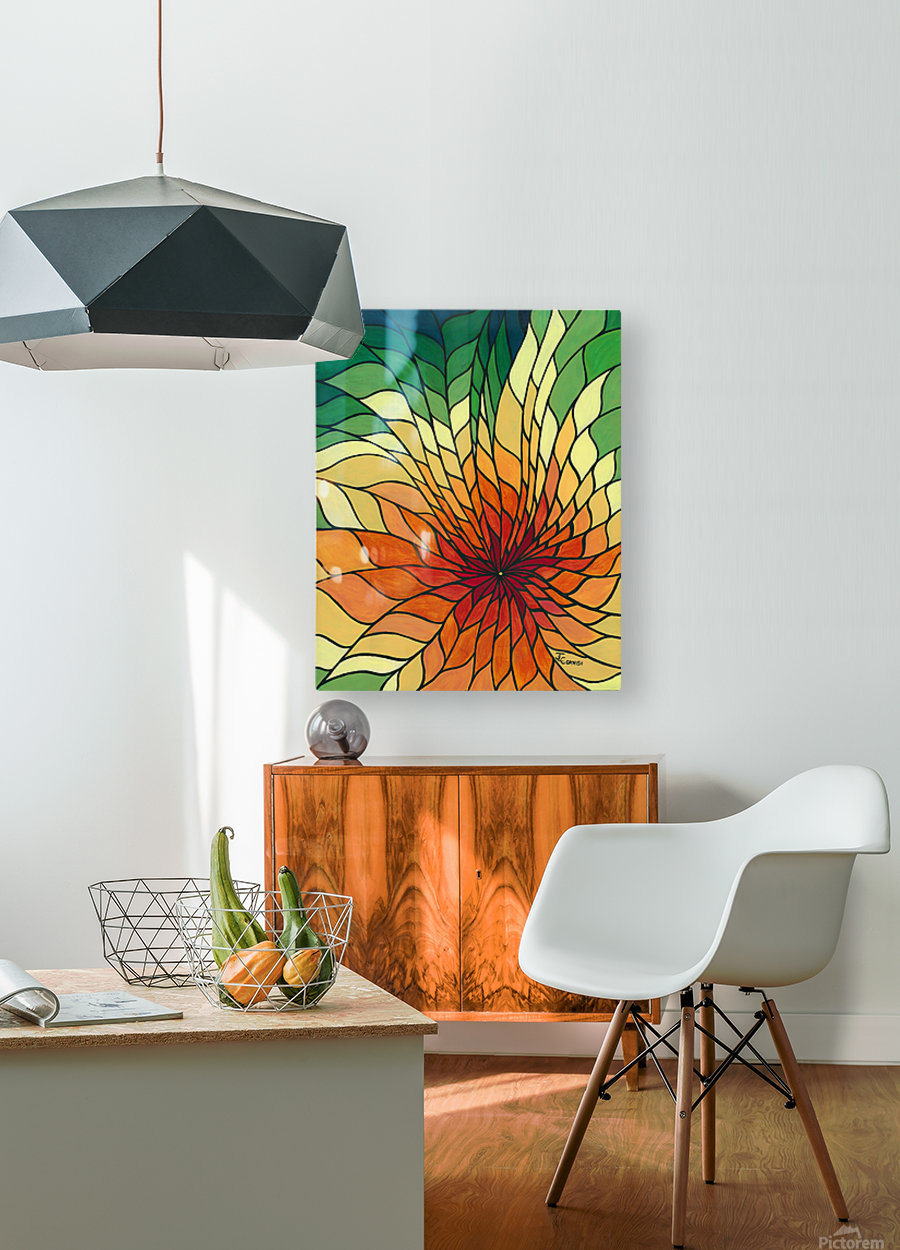 Radiance  HD Metal print with Floating Frame on Back