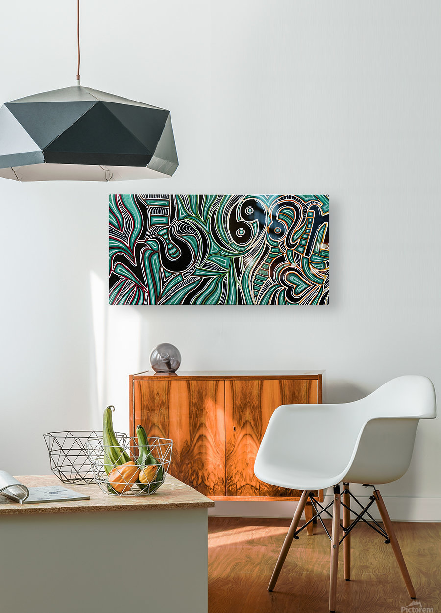 Synergy Triptych Left panel  HD Metal print with Floating Frame on Back