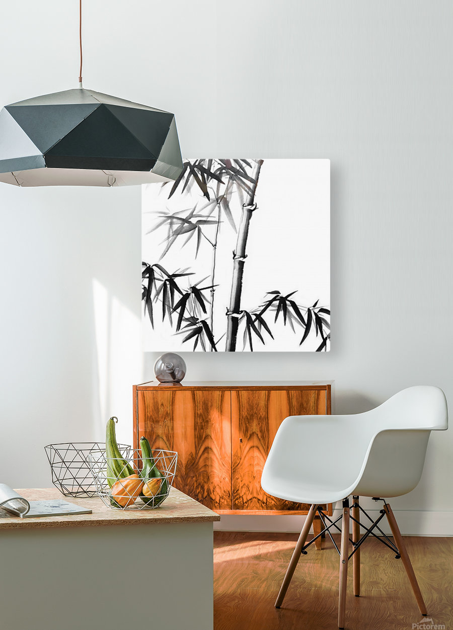 Bamboo - Chinese Style  HD Metal print with Floating Frame on Back