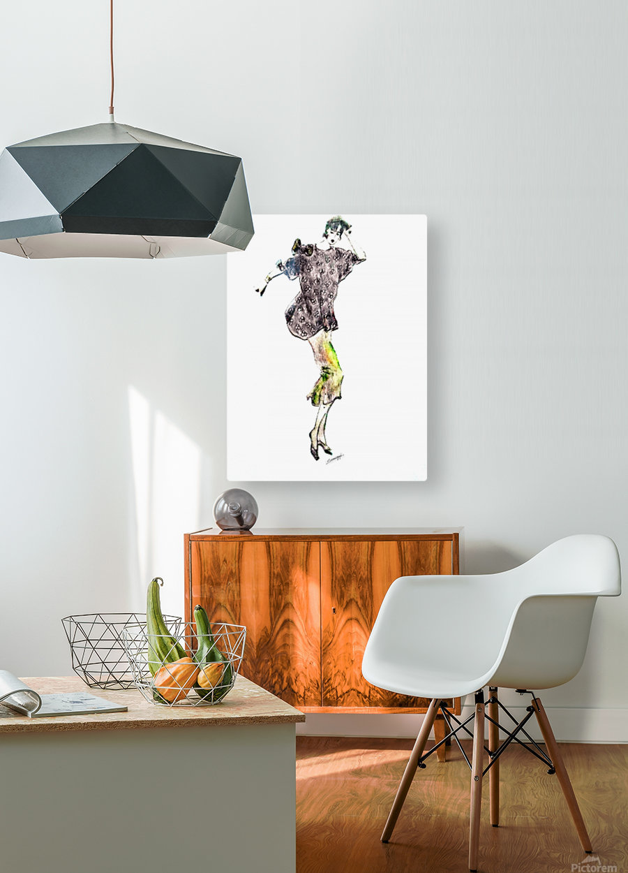 1980's Fashion  HD Metal print with Floating Frame on Back