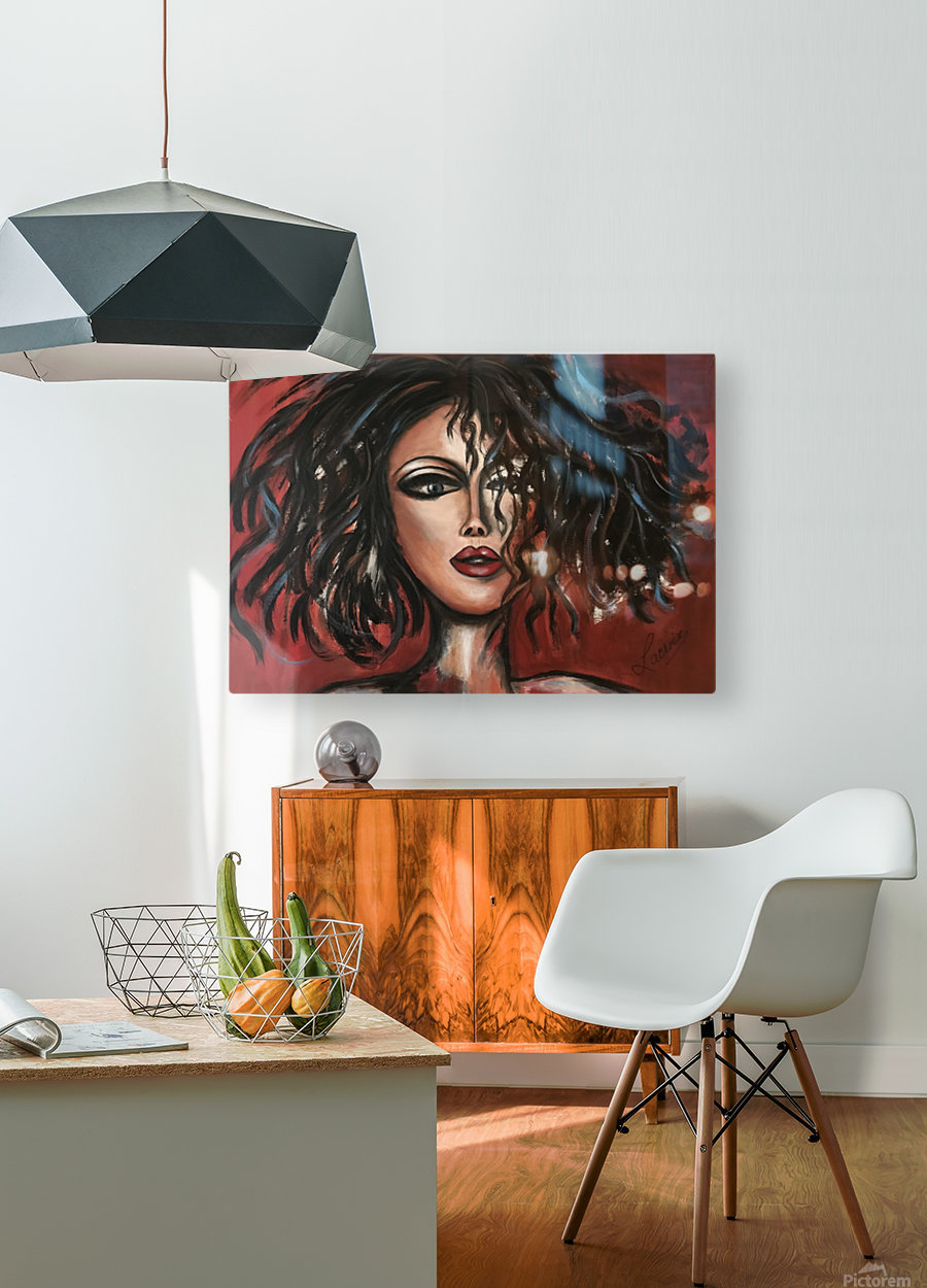 Mamzelle  HD Metal print with Floating Frame on Back