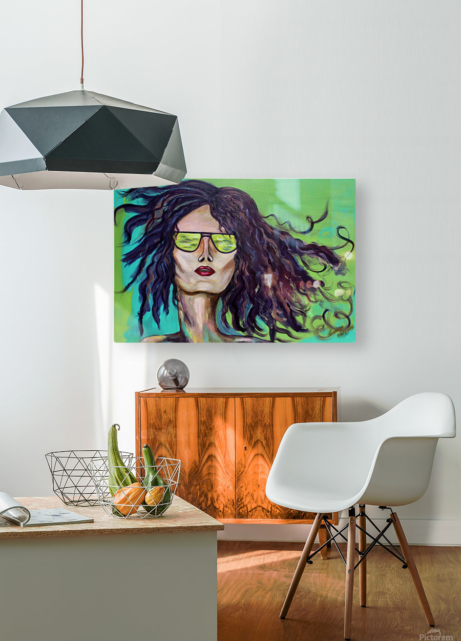 Au Rendez Vous  HD Metal print with Floating Frame on Back