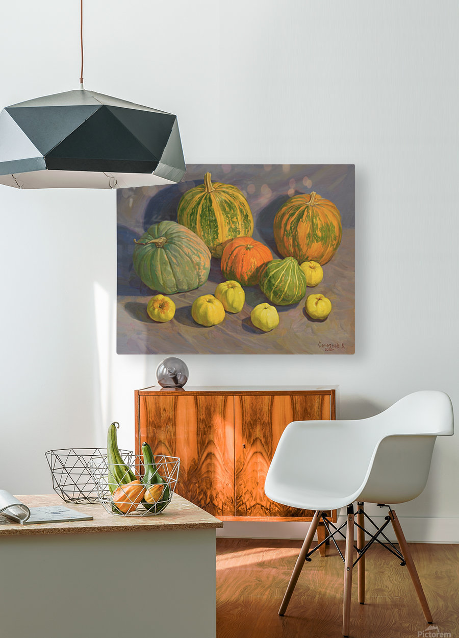 Pumpkins_And_Apples  HD Metal print with Floating Frame on Back