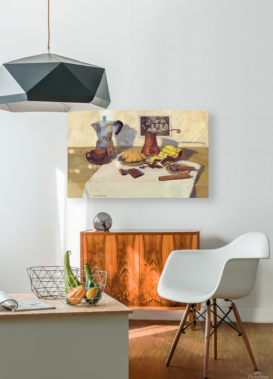 Still_Life_With_Coffee_50x80  HD Metal print with Floating Frame on Back