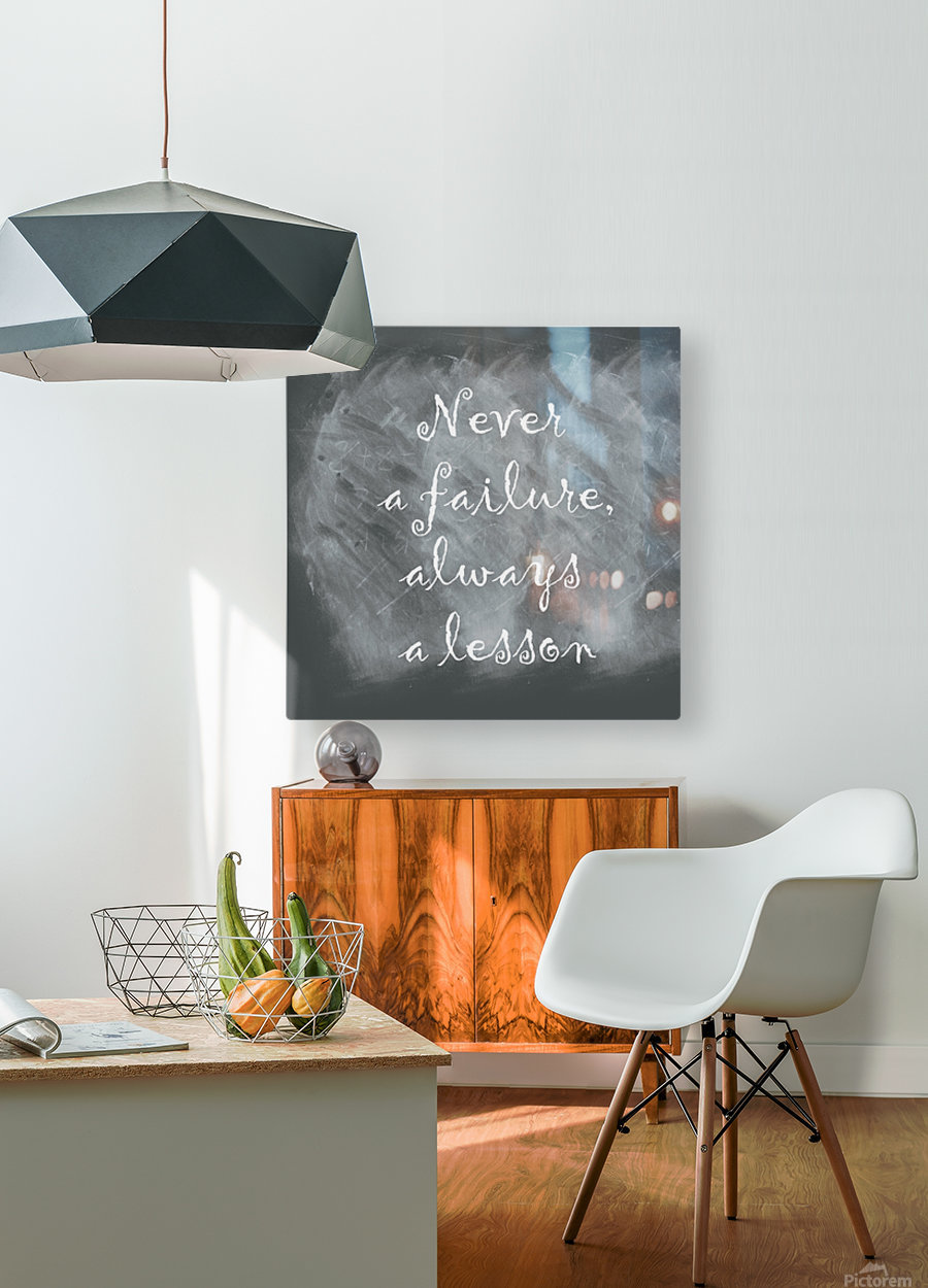 Never fail  HD Metal print with Floating Frame on Back