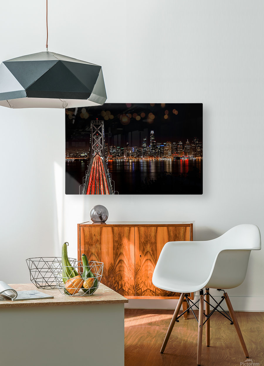Spin City  HD Metal print with Floating Frame on Back