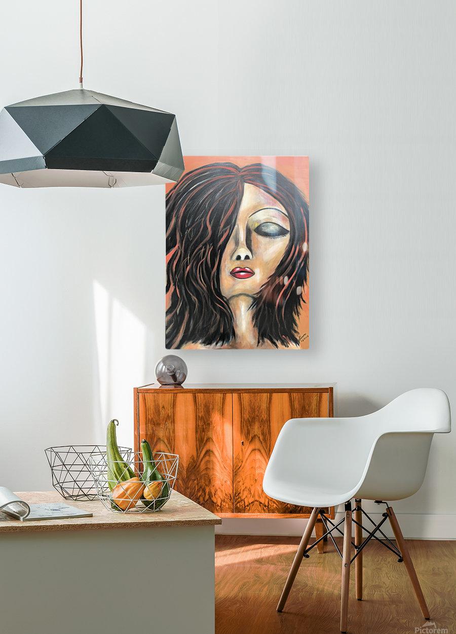 La Femme Zen  HD Metal print with Floating Frame on Back