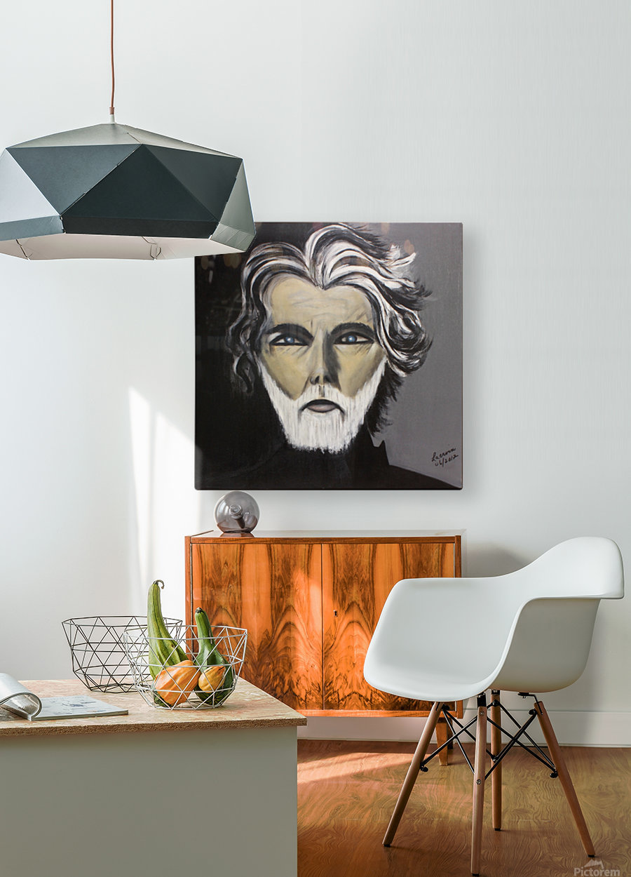 My Friend with the White Beard  HD Metal print with Floating Frame on Back