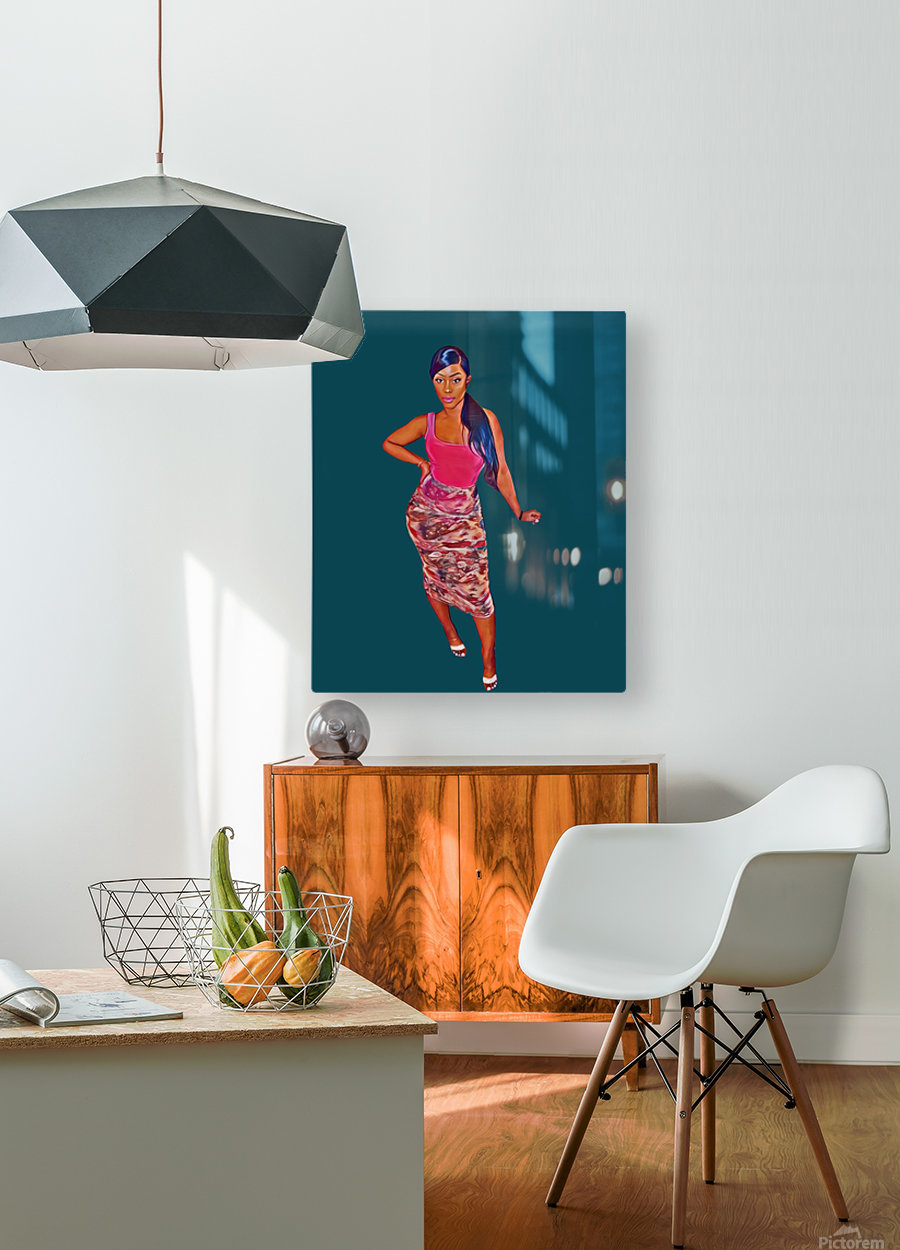 purposeful  HD Metal print with Floating Frame on Back