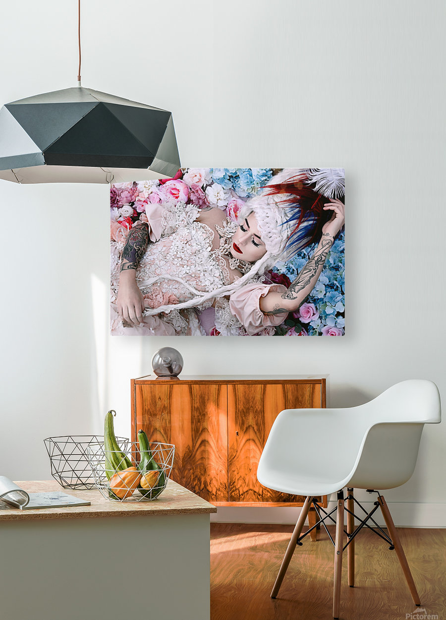 Sleeping Beauty  HD Metal print with Floating Frame on Back