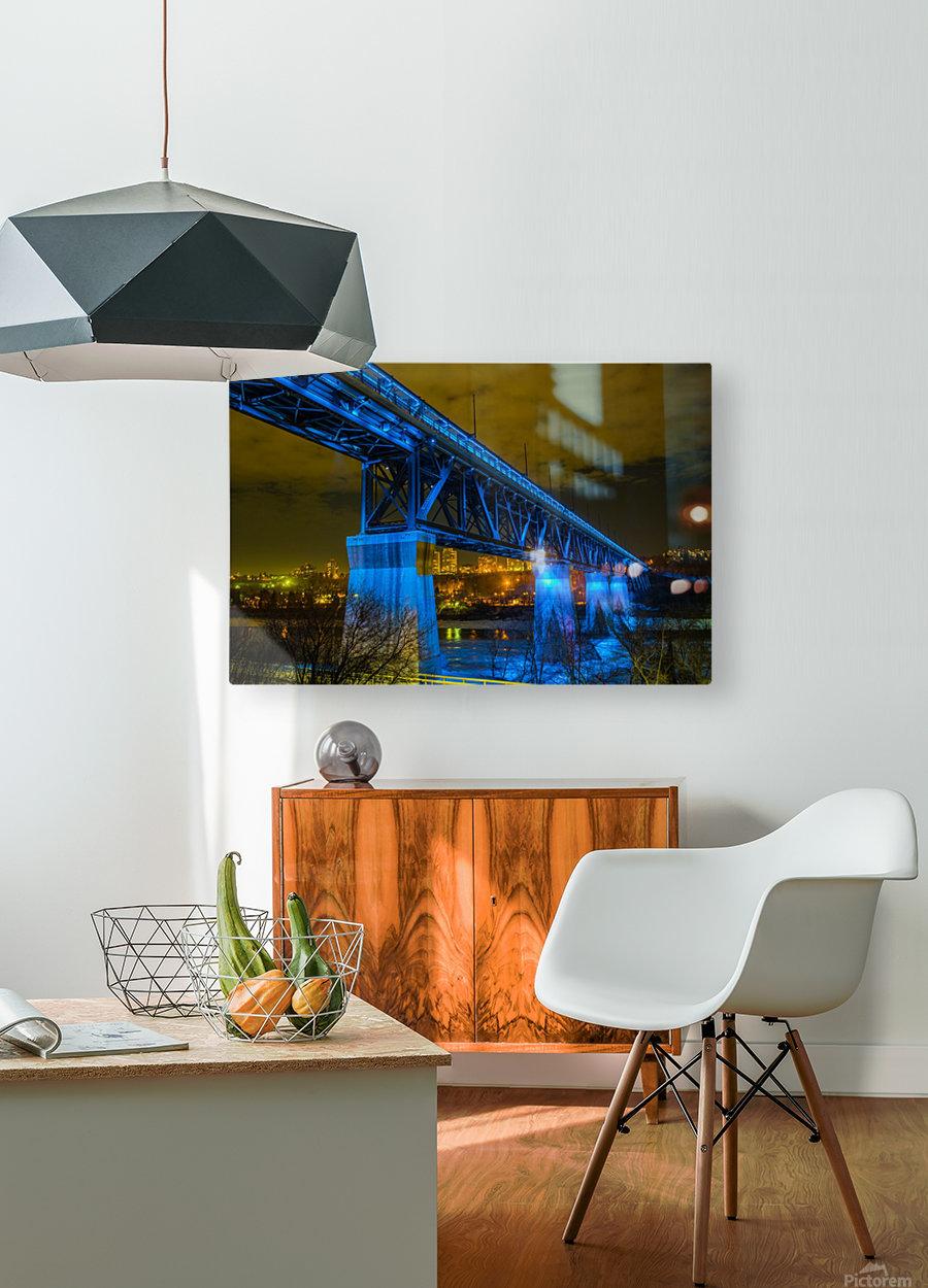 Blue Bridge  HD Metal print with Floating Frame on Back