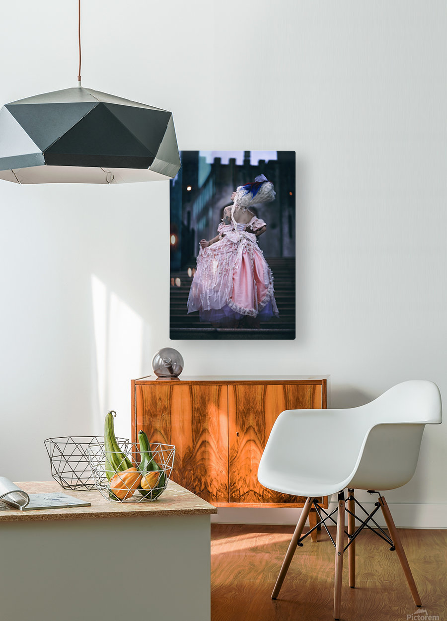 When the clock hits midnight   HD Metal print with Floating Frame on Back
