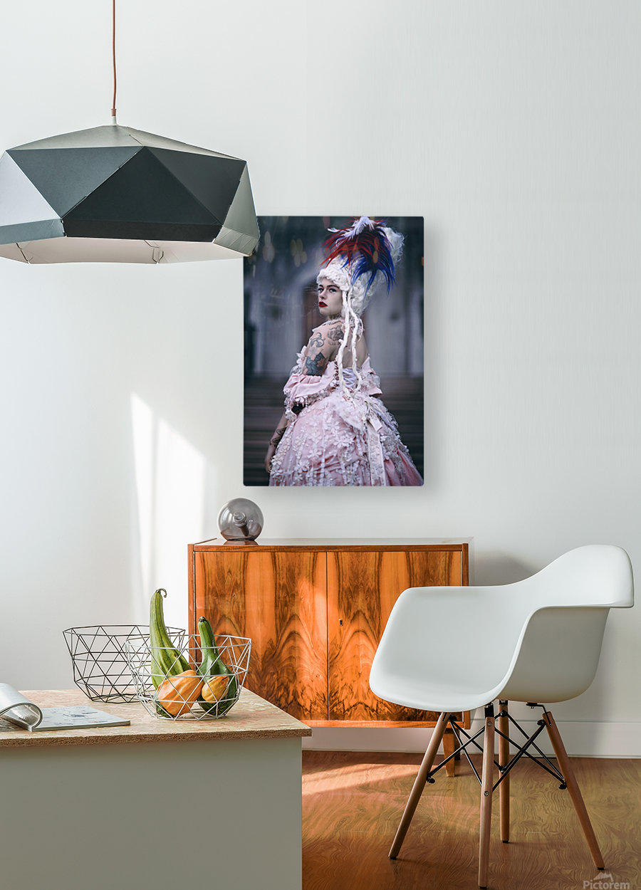 Trust no one   HD Metal print with Floating Frame on Back