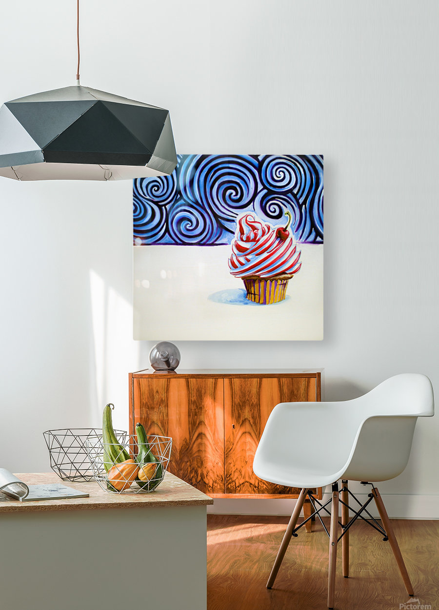 Cupcake  HD Metal print with Floating Frame on Back