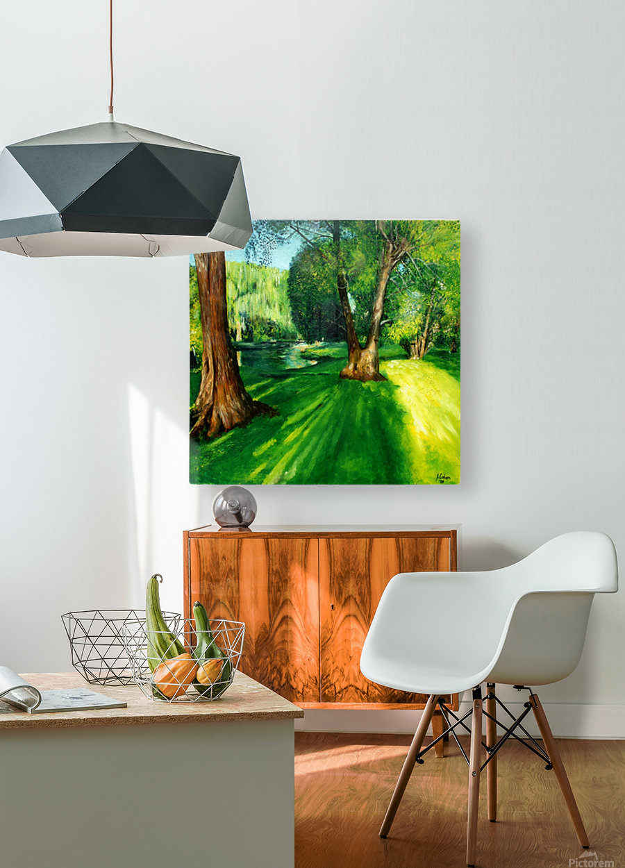 Arboretum shades  HD Metal print with Floating Frame on Back