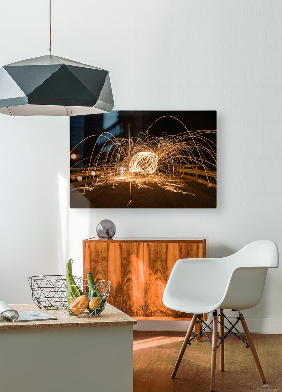 Spiral orb  HD Metal print with Floating Frame on Back
