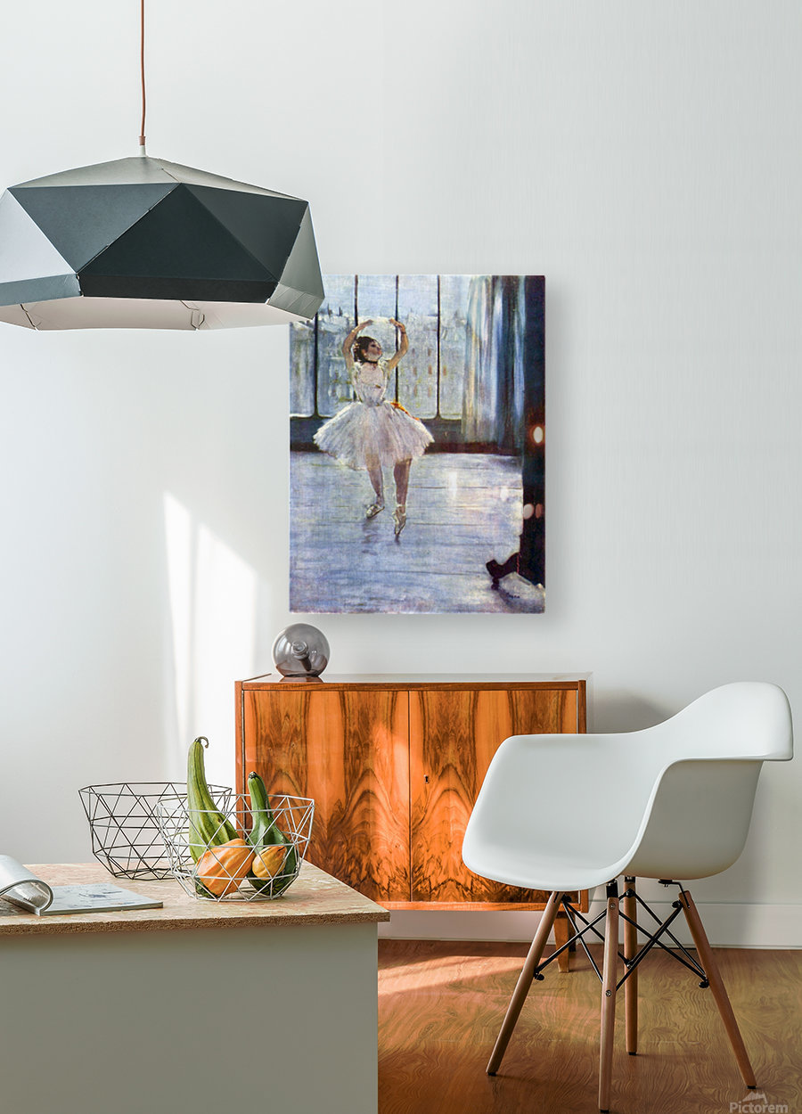 Dancer being photographed by Degas  HD Metal print with Floating Frame on Back