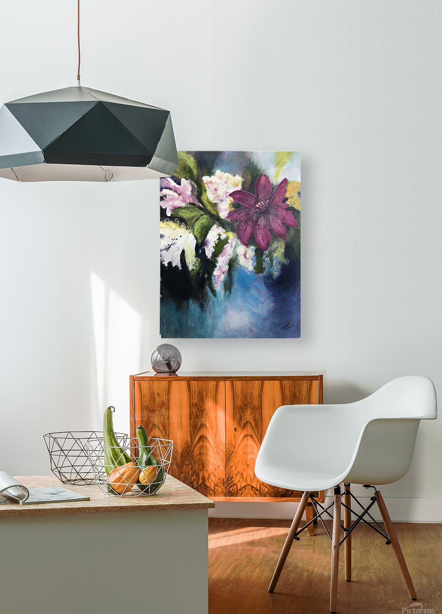 L Eclosion  HD Metal print with Floating Frame on Back