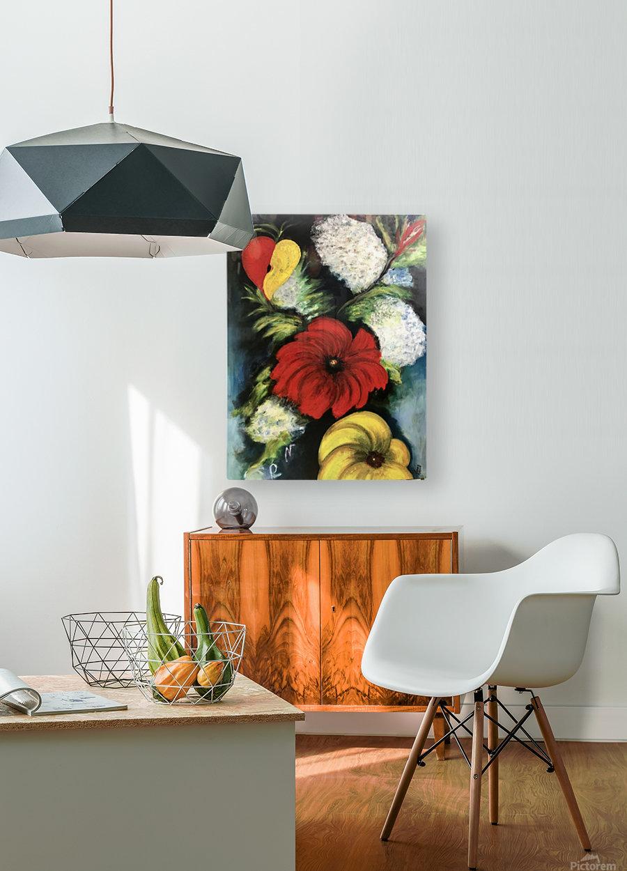 Des Fleurs pour Nathalie  HD Metal print with Floating Frame on Back