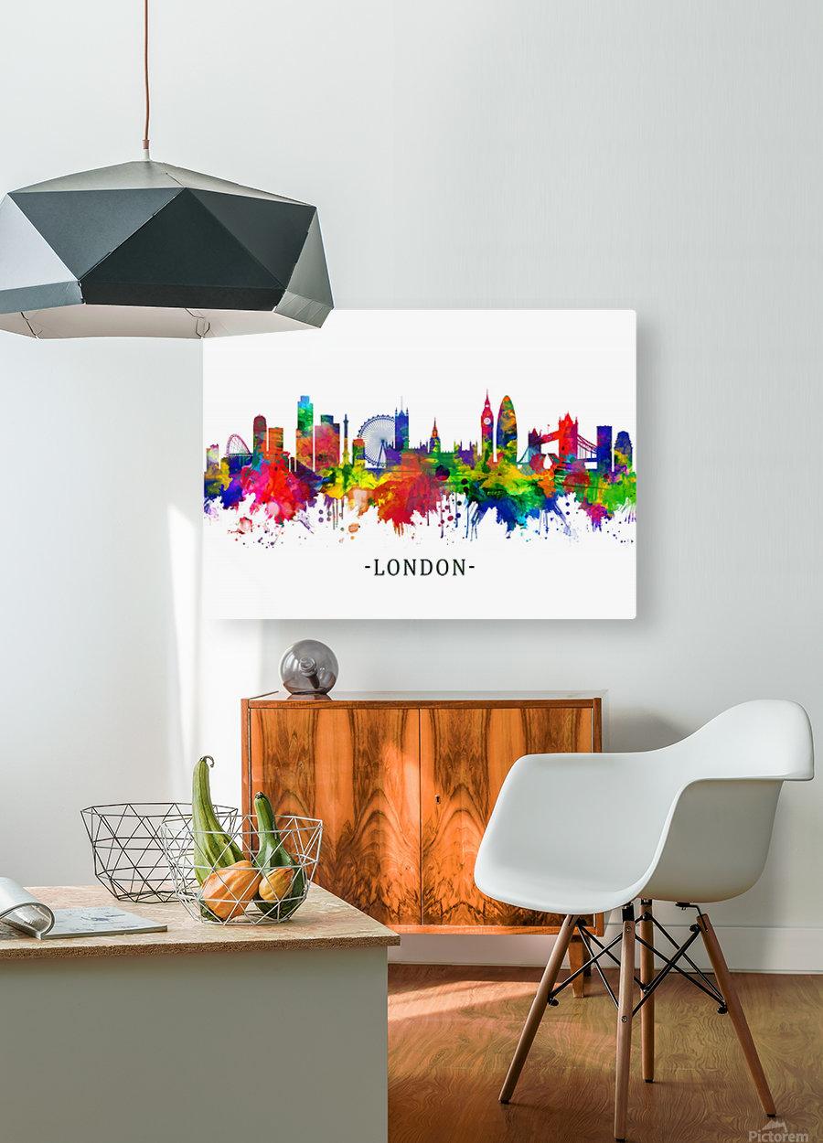 London England Skyline  HD Metal print with Floating Frame on Back