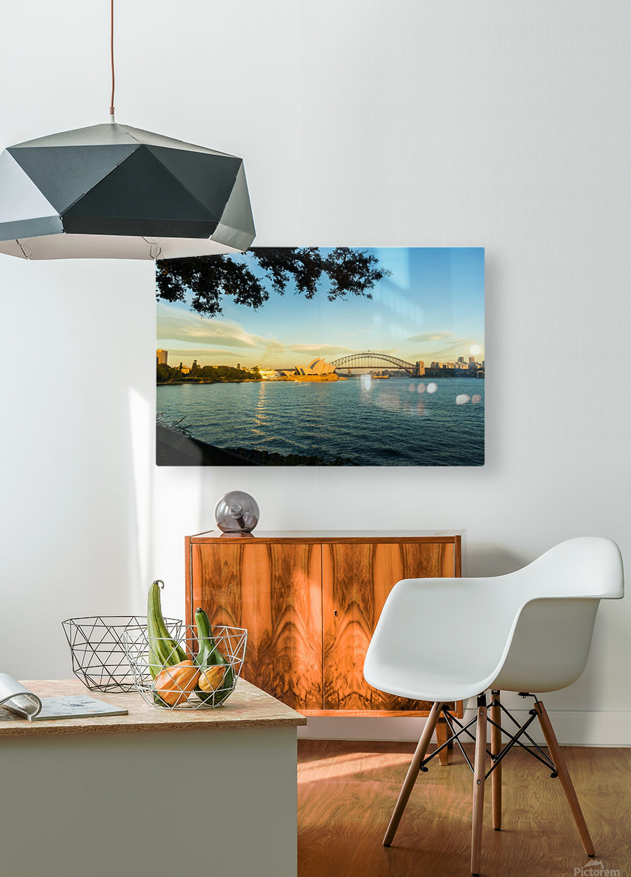 Sydney Opera House in the pre dawn light  HD Metal print with Floating Frame on Back