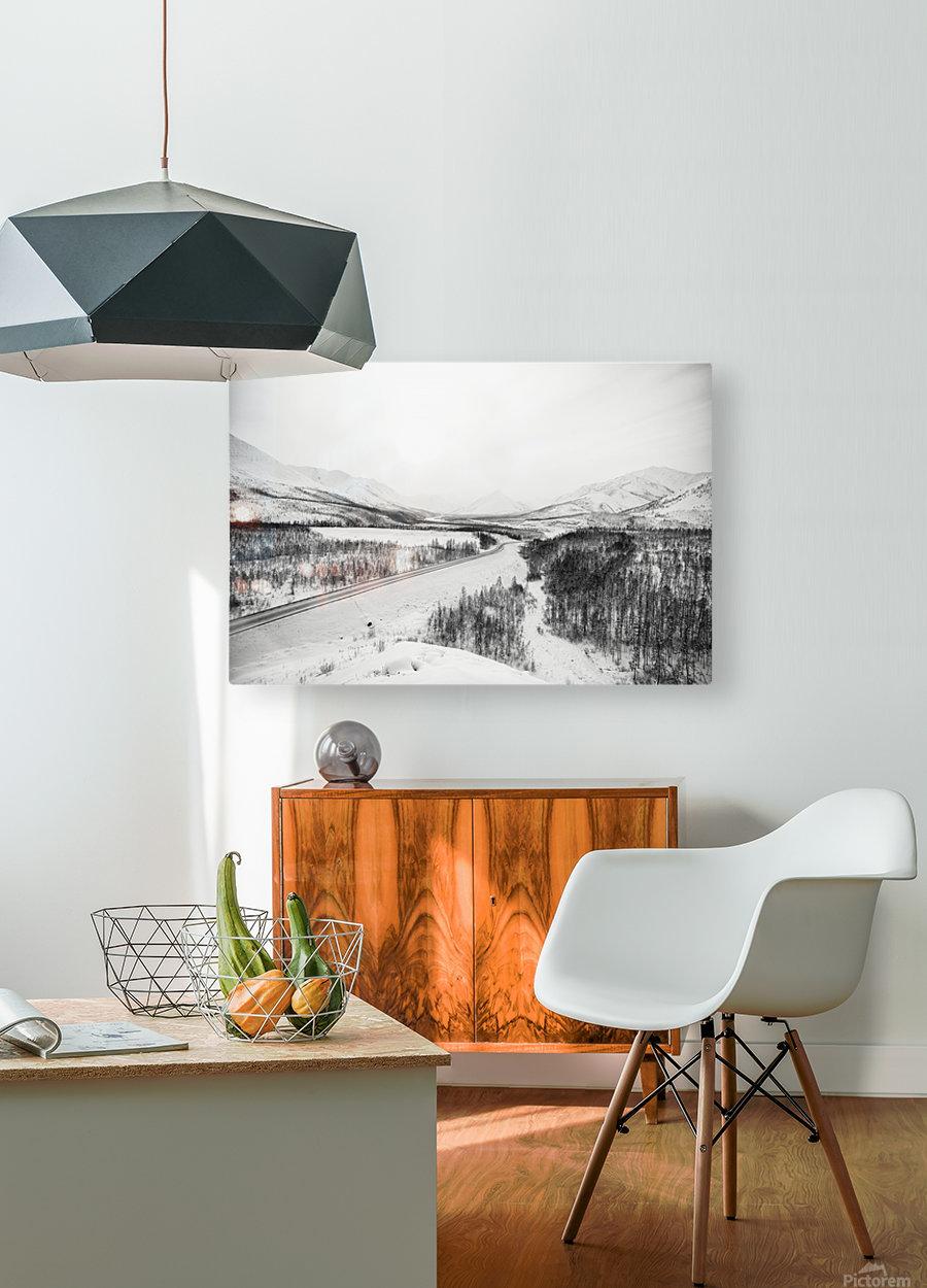 Kolyma Highway in Yakutia  HD Metal print with Floating Frame on Back
