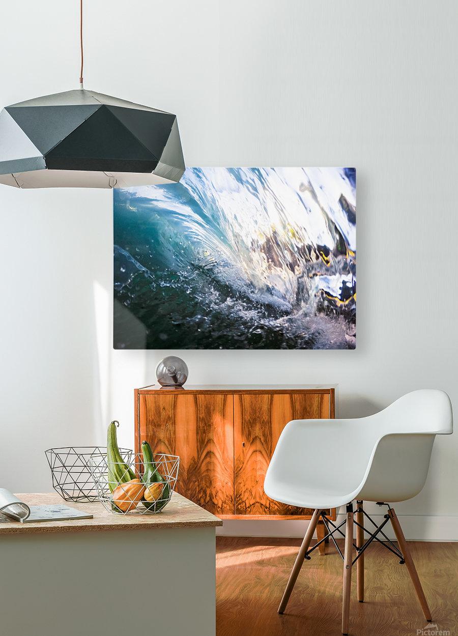 Crash  HD Metal print with Floating Frame on Back
