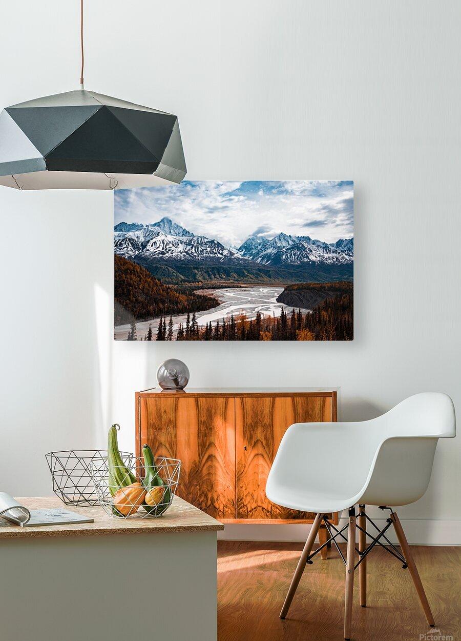 Autumn Landscape  HD Metal print with Floating Frame on Back