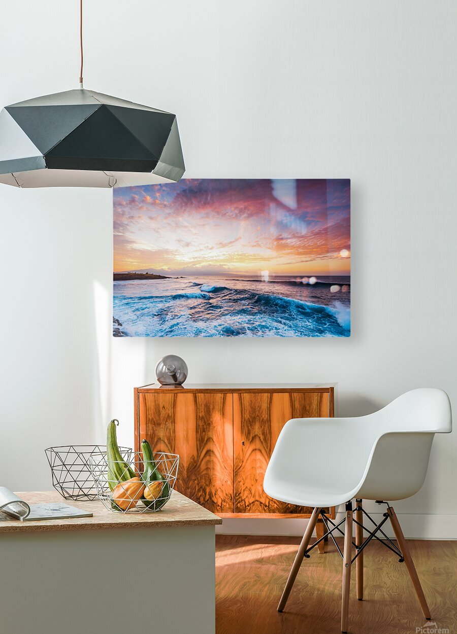 Easy Evening  HD Metal print with Floating Frame on Back