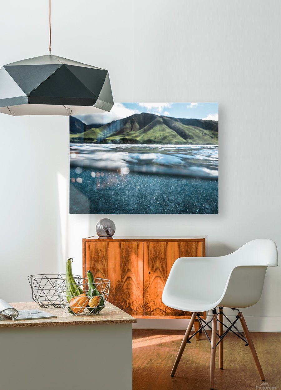 Land and Sea  HD Metal print with Floating Frame on Back