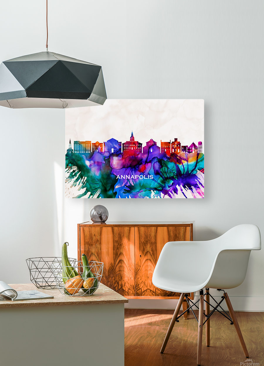 Annapolis Skyline  HD Metal print with Floating Frame on Back