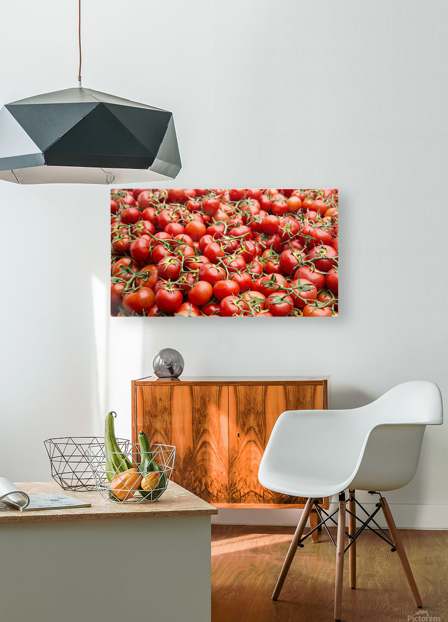 Tomatoes for sale open air market  HD Metal print with Floating Frame on Back