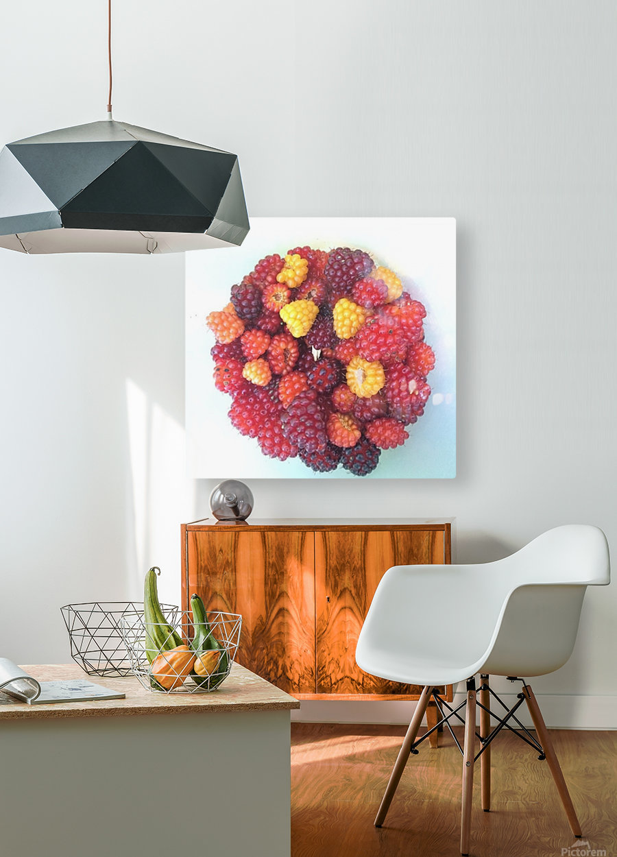 Wild Berries  HD Metal print with Floating Frame on Back