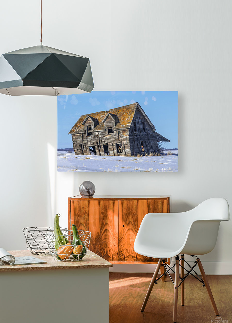 Abandoned Farm House  HD Metal print with Floating Frame on Back